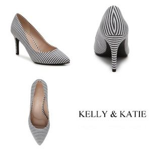 Kelly & Katie Astivia Striped Pointy-Toe Pump